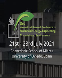 3rd International Research Conference on Sustainable Energy, Engineering, Materials and Environment (SEEME)