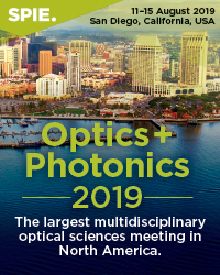 SPIE Optics + Photonics 2019