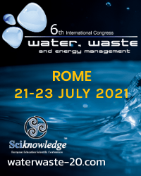 6th International Congress on Water, Waste and Energy Management (WWEM-20)